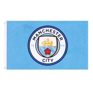 【予約ECM12】マンチェスターシティ ビッグクレスト フラッグ【プレミアリーグ/サッカー/アグエロ/シルバ/Manchester City】ネコポス対応可能|mundial