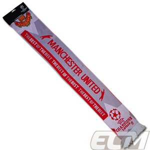 【SALE】マンチェスターユナイテッド チャンピオンズリーグマフラー【Manchester United/サッカー/プレミアリーグ/マンチェスターUTD/スカーフ】 MA07|mundial