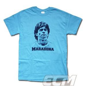 【予約ECM12】ディエゴ・マラドーナ レジェンドTシャツ ブルー【アルゼンチン代表/サッカー/MARADONA/ナポリ】330 ENG03|mundial