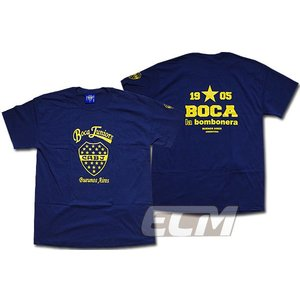 ボカジュニアーズ クレストTシャツ ネイビー【Boca juniors/サッカー/マラドーナ/リケルメ/アルゼンチンリーグ】330 ENG03 ECM12|mundial