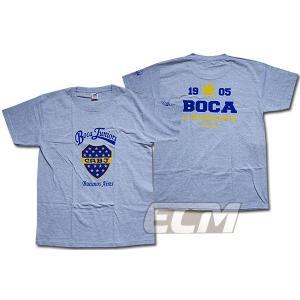ボカジュニアーズ クレストTシャツ グレー【Boca juniors/サッカー/マラドーナ/リケルメ/アルゼンチンリーグ】330 ENG03 ECM12|mundial
