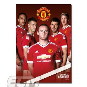 【SALE30%OFF】マンチェスターユナイテッド 2016 A3壁掛けカレンダー(ポスターサイズ)【プレミアリーグ/Manchester United/ルーニー/ブリント/サッカー】ECM10|mundial