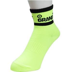 【サッカー グランデ】【オススメ】GRANDE 2-LINE ハーフソックス 蛍光イエロー x ブラック  ネコポス対応可能|mundial