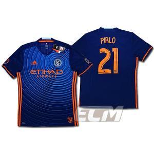 【サッカー MLS】【予約ECM32】ニューヨーク・シティ アウェイ 半袖 21番ピルロ mundial