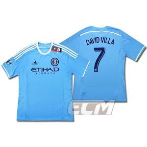 【サッカー MLS】【予約ECM32】ニューヨーク・シティ ホーム 半袖 7番ダビド・ビジャ mundial