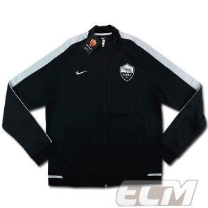 【サッカー ASローマ】【予約ECM32】ASローマ N98 オーセンティックトラックジャケット ブラック ボーイズ 330|mundial