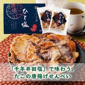 敬老の日 プレゼント 伊豆井田塩 たこの唐揚げせんべい ひと塩2袋入(40g×2袋) muranoeki