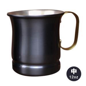 【新光金属株式会社/コパドア】銅製 黒銅仕上げマグカップ ビアマグ 中 12oz[S-588BL] muranokajiya