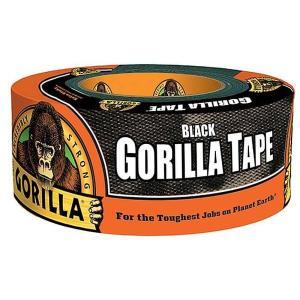 【ゴリラ】テープ ブラック 超強力多用途ダクトテープ 幅48mm×長さ11m×厚さ0.43mm(KURE-E-1776)|muranokajiya