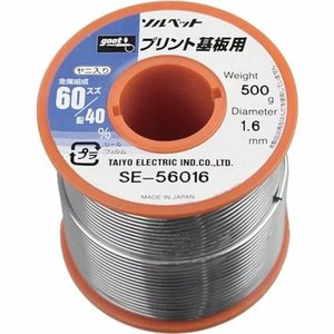 リール巻鉛入りはんだ プリント基板用はんだ 500g Φ1.6mm SE-56016 muranokajiya