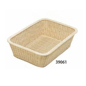 籐脱衣篭(だついかご) 角型白 39×56×15.5cm 39061|muranokajiya