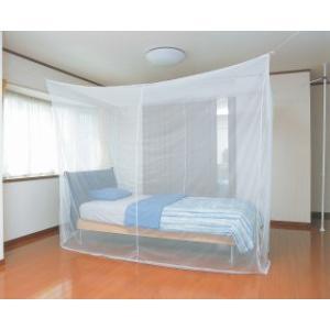 軽涼蚊帳(かや) 3畳・シングルベッド用 幅250×奥行150×高さ200cm|muranokajiya