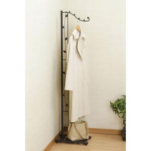 スリムリーフコート掛けブラウン 29532 幅24.2cm×高さ154.5cm|muranokajiya