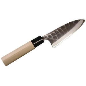 三條 辰守作 鋼付け 黒打槌目 鯵切包丁 135mm|muranokajiya