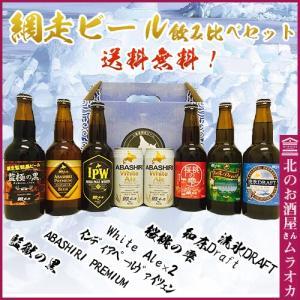 お中元 御中元 ギフト網走ビール 飲み比べセット 送料無料 350ml×2本、330ml×6本選べるメッセージカード|muraoka-liquor