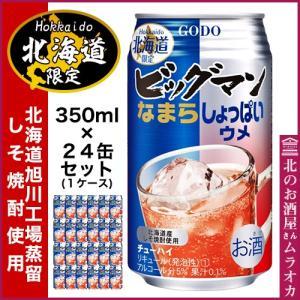 北海道限定 ビッグマンチューハイ なまらしょっぱいウメ 350ml×24本 muraoka-liquor