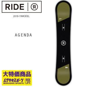 予約販売 10月中旬入荷予定 スノーボード 板 RIDE ライド AGENDA アジェンダ 18-19モデル メンズ FF H1 MM|murasaki