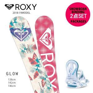 予約販売 10月中旬入荷予定 スノーボード + ビンディング 2点セット ROXY ロキシー GLOW 18-19モデル レディース FF G18|murasaki