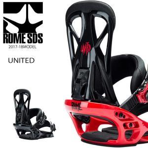 送料無料 スノーボード バインディング ビンディング ROME SDS ローム UNITED ユナイテッド 17-18モデル メンズ EE K24|murasaki