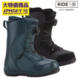 【RIDE】ライドのスノーボードブーツ。 シングルボアを搭載し、着脱がし易く、扱いやすい エントリー...