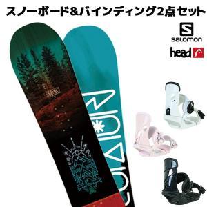 スノーボード+バイディング 2点セット SALOMON サロモン SUBJECT MEN サブジェクト HEAD ヘッド NX MU 18-19モデル メンズ FF K21 murasaki