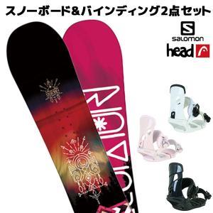スノーボード+バイディング 2点セット SALOMON サロモン SUBJECT WOMEN サブジェクト HEAD ヘッド NX MU  18-19モデル レディース FF K21 murasaki