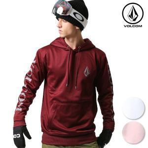 【VOLCOM】ボルコムのスノーインナーウェア。 胸元にストーンロゴをあしらった スノーボードインナ...