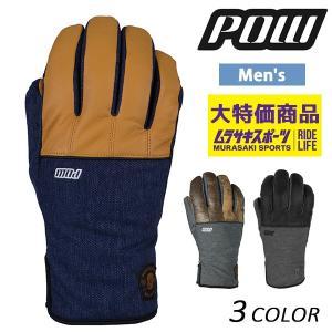 メンズ スノーボード グローブ Pow Gloves パウグ...