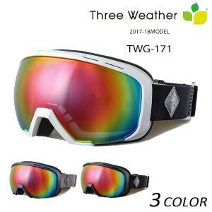 スノーボード ゴーグル THREE WEATHER スリーウェザー TWG-171 17-18モデル アジアンフィット EE K3|murasaki