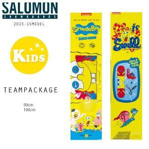 送料無料 SALE セール キッズ スノーボード 2点セット SALOMON サロモン TEAM PAKAGE チームパッケージ 【15-16モデル】 CC L5|murasaki
