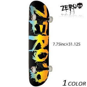送料無料 スケートボード コンプリートセット ZERO ゼロ BLOOD BLACK / RAINBOW C17023 FF C7|murasaki