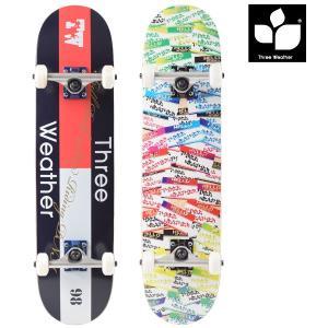 送料無料 スケートボード コンプリートセット THREE WEATHER スリーウェザー SBMR2674 FF D5|murasaki