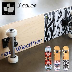 送料無料 スケートボード コンプリートセット THREE WEATHER スリーウェザー SBMR2673 7.5インチ EE E5|murasaki