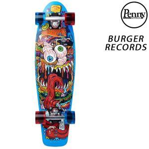 ミニクルージングボード Penny ペニー × BURGER RECORDS バーガー レコード NICKEL GRAPHICS COMPLETE BUGER MONSTER FF H24 murasaki