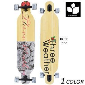 送料無料 クルージング ロングスケートボード THREE WEATHER スリーウェザー Rose Model SBMRL2002 EE H12 murasaki