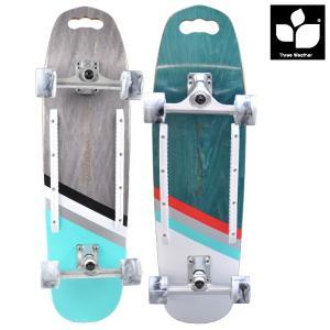 ロングスケートボード THREE WEATHER スリーウェザー サーパスT スリーウェザー WOODY MSWP32CT FF E9|murasaki