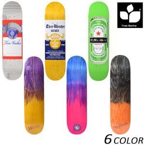 スケートボード デッキ THREE WEATHER スリーウェザー SUPER HARD DECK ...