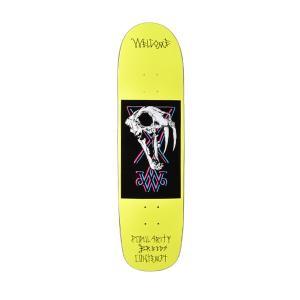 スケートボード デッキ WELCOME ウェルカム SABERSKULL ムラサキスポーツ限定 FF H9 MM murasaki