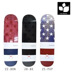 スケートボード デッキ THREE WEATHER スリーウェザー SUPER HARD DD E9|murasaki