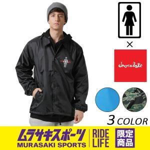 SALE セール メンズ コーチ ジャケット GIRL ガール GIRL×CHOCO×MURASAKI COACH JACKET GCMSJ01 ムラサキスポーツ限定 EE3 I23|murasaki