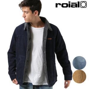 メンズ ジャケット roial ロイアル R803MMT02 アウター 秋 冬 カジュアル ボア ムートン調 コーデュロイ調 デニム ブルゾン FF3 J9 murasaki