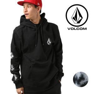 メンズ パーカー VOLCOM ボルコム Deadly Stones A4131805 プルオーバー カジュアル 長袖 トップス ロゴ プリント 黒 ブラック FX3 I14|murasaki