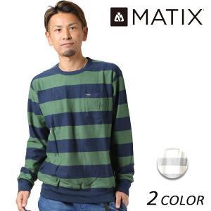 メンズ ニット トップス MATIX マティックス RACELINER CREW KNIT F1 L23|murasaki