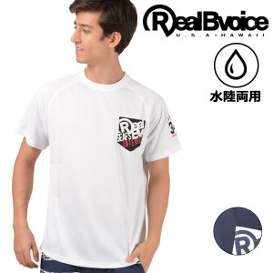 メンズ トップス 半袖 Tシャツ ハイブリッド 水陸両用 Real.B.Voice リアルビーボイス 10031-10056 吸水 速乾 速乾性 ロゴ プリント FF3 F28 murasaki
