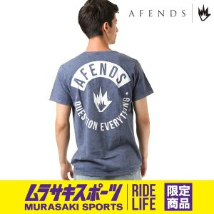 SALE セール メンズ 半袖 Tシャツ AFENDS アフェンズ YUB 18A1-06MU-1 ムラサキスポーツ限定 FF2 E29|murasaki