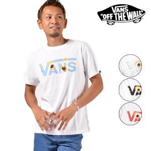 メンズ トップス 半袖 Tシャツ VANS バンズ VA18HS-MT50MS ムラサキスポーツ限定 プリント ロゴ カジュアル 春 夏 FF3 G12|murasaki