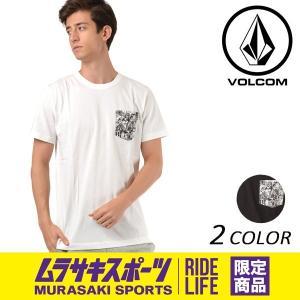 メンズ 半袖 Tシャツ VOLCOM ボルコム Collage Pkt S/S Tee A50118JR ムラサキスポーツ限定 FF1 D25|murasaki