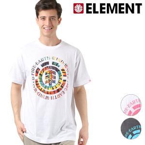メンズ トップス 半袖 Tシャツ ELEMENT エレメント AI021-211 汗ジミ防止 FX1 B15 MM murasaki