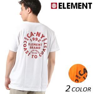 メンズ トップス 半袖 Tシャツ ELEMENT エレメント AI021-221 吸汗速乾 FX1 B15 MM murasaki