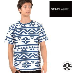 メンズ 半袖Tシャツ DEAR LAUREL ディアローレル D18S2103 FF1 F28|murasaki